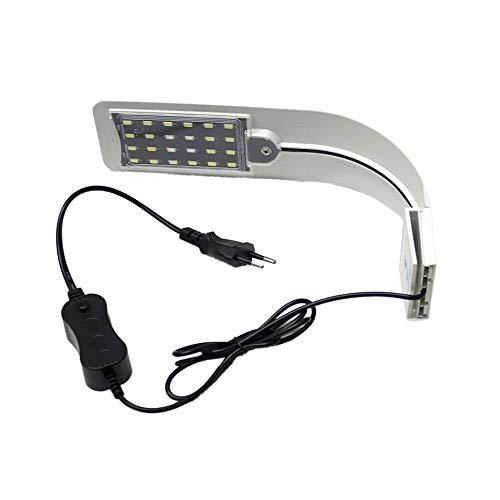 Panamami High Brightness Aquarium Flexible Clip Lampe Aquarium Über Kopf LED Aquarium Wasser Clip Lampe Für Beleuchtung - Weiß