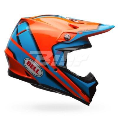 Bell Cascos MX 2017Moto-9adultos casco, Spark, color naranja/azul,