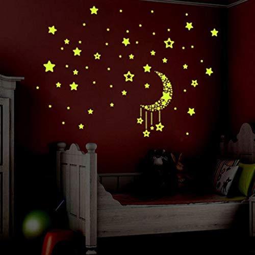 Fatalom A Set Wandsticker für Kinderzimmer, leuchtet im Dunkeln