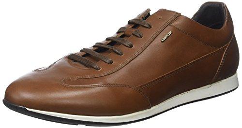 Geox U Clemet A, Sneakers Basses Homme Marron (Cognacc6001)