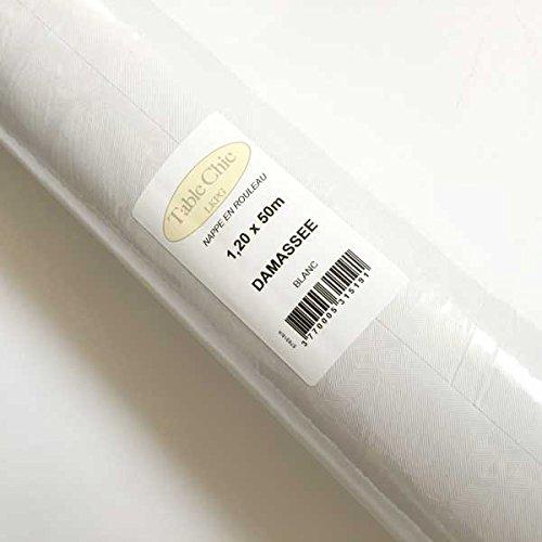 Table chic - Nappe En Papier 1, 20x50m Blanche