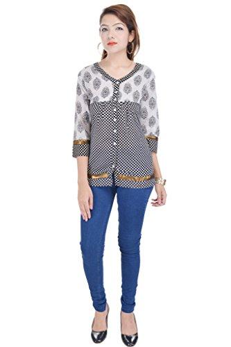 Alobha kurtis for women Cotton Black Short Kurta
