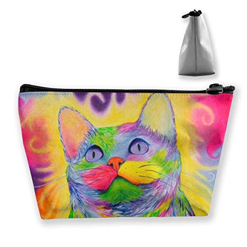Regenbogen Kitty Katze Reise Make-up Tasche Kosmetiktasche Organizer Aufbewahrungstasche Für Frauen Schönheit