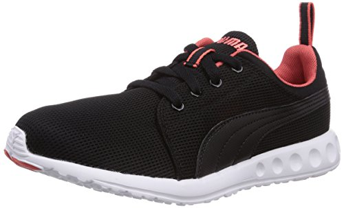 Puma Carson Runner Wn's, Damen Laufschuhe, Schwarz (05 black-hot coral), 37 EU (4 Damen UK)