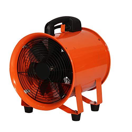 GYPQS 10-Zoll-Lüfter für industrielle Belüftung, tragbarer Axiallüfter für Handbetrieb, 220V 370W-mobile Mobile Belüftungsmaschine, leistungsstarkes Pumpen, Wärmeabfuhr, Staubentfernung und Absaugung - Mobile Absaugung