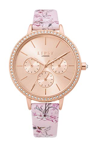 Lipsy Womens Analogue Classic Quartz Watch with PU Strap LP648 Best Price and Cheapest