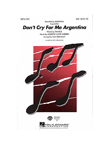 Don't cry for me Argentina (from Evi...