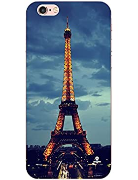 Teryei® TPU Silicona Funda Protección Premium Semi-Transparente Caso cover para iPhone 6/6s 4,7 pulgadas - Torre...