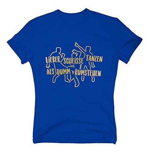 Herren T-Shirt - Lieber scheisse tanzen, als dumm rumstehen - von SHIRT DEPARTMENT Schwarz-Gold