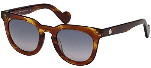 Moncler Unisex-Erwachsene ML0008 45C 48 Sonnenbrille, Braun (Marrone Chiaro Luc/Fumo Specchiato),