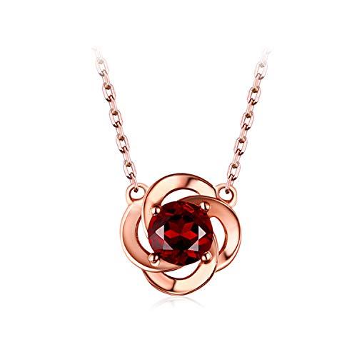 lume Anhänger Halskette, 925 Silber Überzogene 18K Rose Gold Schlüsselbein Kette, Ihr EIN Geschenk Geben ()