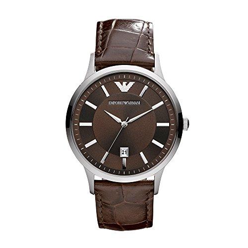 Emporio Armani Herren-Uhren AR2413 Armani Uhr Herren Braun Leder