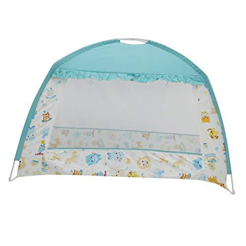 Fenteer Enfants Tente Lit Rêve Pop up Ciels Playhouse Tent Enfant Interieur pour Garçon Fille - Bleu, 65 x 120 x 95 cm