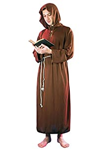 FIORI PAOLO-Frate disfraz para adulto, color marrón, talla 52-54, 62010