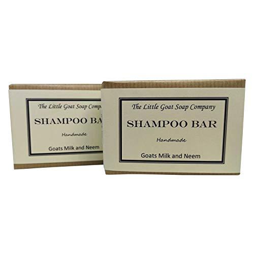 2x Shampoo Bar-Ziegen Milch und Neemöl 100g. Ekzemen, Psoriasis, Seborrhö. - Ziegen-milch-bar