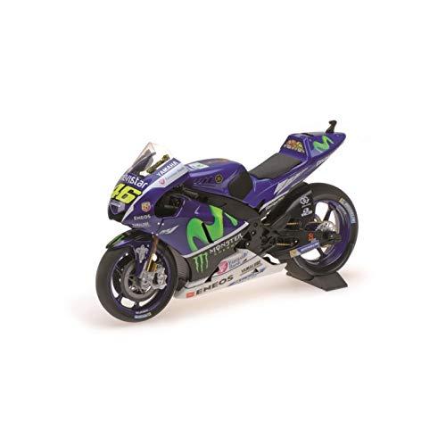 Minichamps 182163146 1:18 YZR-M1 Movistar Yamaha-Valentino Rossi-Testbike 2016, Multi