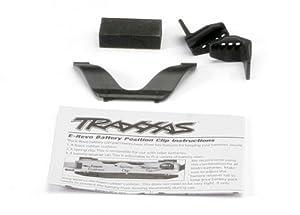 Traxxas 5629 - Pinza para retenedor de batería y Frontal (Clip Trasero/Espuma), diseño de Coche