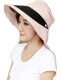SMO Chapeau pliable de femme contre rayons ultra-violets avec 4 couleurs (ros)