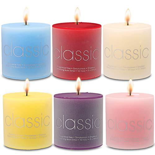 Janolia Duft Kerze Geschenk Set, 6Stück Colorful Walt Kerzen Verpackt in Gorgeous Geschenk-Box, Rauchfreie Natur Sicher, Brenndauer bis zu 10Stunden, Perfekt