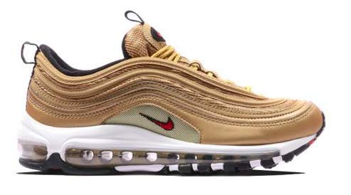 Nike Air Max 97 OG QS Schuhe Sneaker Women´s Neu (6 B(M) US, Metallic Gold/Varsity Red) -