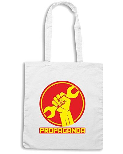 T-Shirtshock - Borsa Shopping TCO0055 propaganda comunismo Bianco