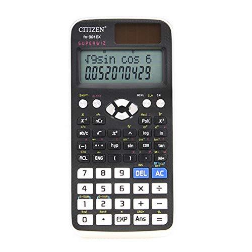 Teepao calcolatrice scientifica professionale display a doppia linea, calcolatrice funzioni multiple per studente di scuola superiore - nero