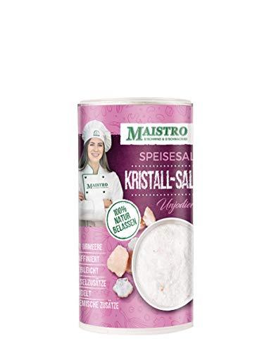 Kristall Steinsalz, unbehandeltes Salz der Urmeere, nicht gebleicht, nicht raffiniert, ohne chemische Zusätze, händisch verarbeitet. MAISTRO Kristall Salz - Salz-kristalle