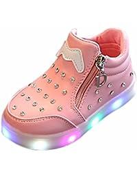 Bambini stivali,WINWINTOM Bambini caldi Ragazzi Ragazze Martin Scarpe da Sneaker Bambini Bambini Scarpe Casual (25, Nero)