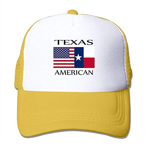 Hipiyoled Texas American Flag Men Women Adjustable Snapback Hüte Trucker Cap | Baseball Caps Mesh Back 30031 - Back Adjustable Trucker Hut
