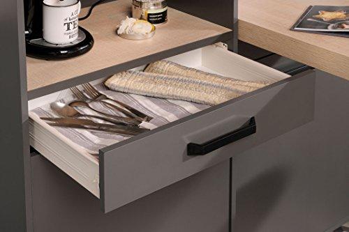 expendio Singleküche Mona 2 grau 3-teilig Küchenzeile Schrank Küchenschrank Küchenblock