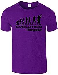 Evolution Photographer Hommes Femmes Dames T-Shirt
