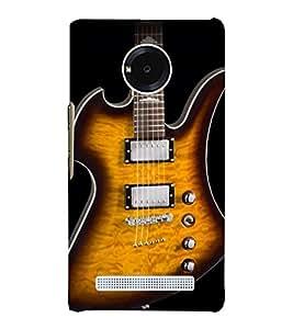 Lighting Guitar Strings 3D Hard Polycarbonate Designer Back Case Cover for YU Yunique