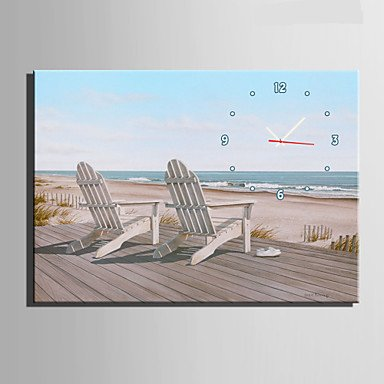 Quietness @ Two Chairs on The Beach Clock in Canvas 1pcs,20