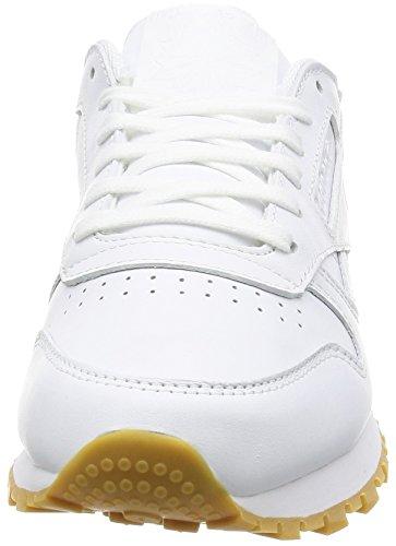 Reebok Cl Lthr Met Diamond, Sneakers Femme Blanc Cassé (White/gum)
