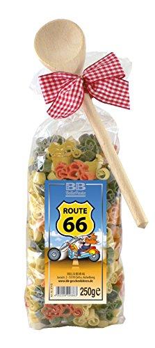 Pasta Präsent Route 66 mit bunten Motorradnudeln (250 g) handgefertigt in deutscher Manufaktur