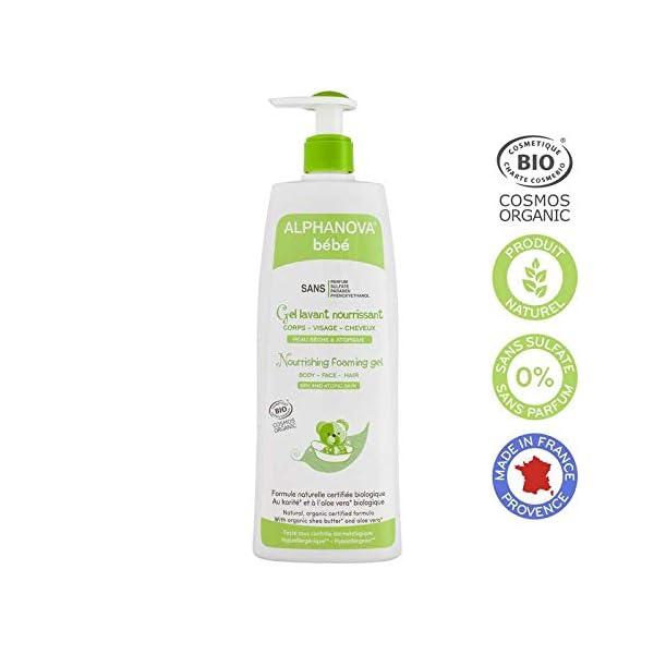 Alphanova Gel- espuma limpiador nutritivo bebé Bio 500ml