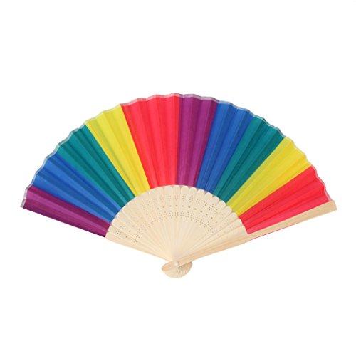Hand Faltender Fächertanz für Hochzeits-Themed Parties Decoration Fan ()