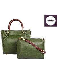 KEZITASKA Women Top Handle Satchel Green Handbags Shoulder Bag Tote Purse Messenger Bags