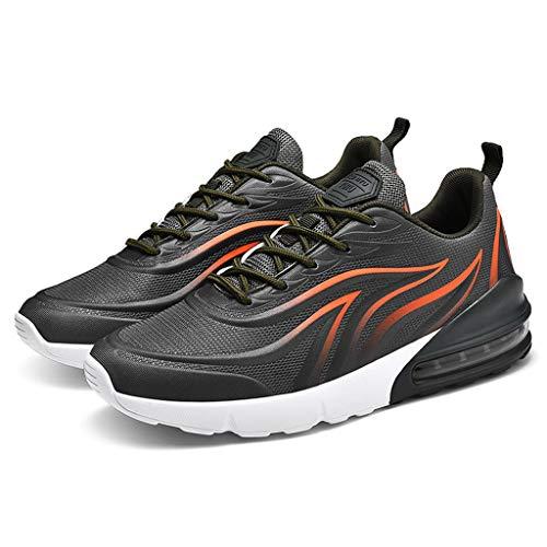 LILICAT Scarpe Running Sneakers Uomo Sport Scarpe da Ginnastica Fitness Respirabile Mesh Corsa Leggero Casual all'Aperto Scarpe da Corsa(Green-E,46 EU)