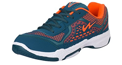 Campus BIO-KNIT Green and Orange Men Sport Shoes Size- 7