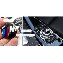 exoca (TM) 29mm botones de Control de Audio Multimedia etiquetado Etiquetado interior decoración pegatinas modificado coche para BMW parte inferior de aluminio Resina