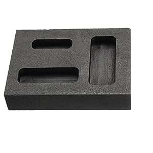 Drillpro Creuset Graphite Fondre Four Fonte Fusion Argent Or Ingot Combo Moule - Or Graphite lingotière 56 X 46 X 21mm