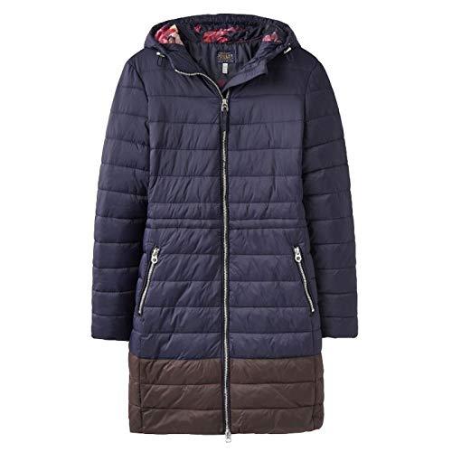 Joules Womens Heathcote Mid Length Hooded Lined Puffa Coat (Puffa Coat Frauen)