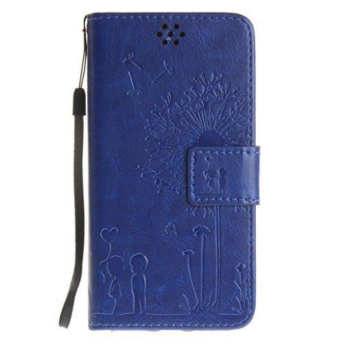 """iPhone 7 Coque, MYTHOLLOGY Magnétique Portefeuille Fente Carte avec Support Housse PU Cuir Case à rabat Folio EtuI pour iphone 7 (4.7"""") - Rose Bleu"""