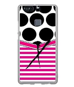 PrintVisa Designer Back Case Cover for Huawei P9 (Black Lines Bars Blinds English Alphabet X)