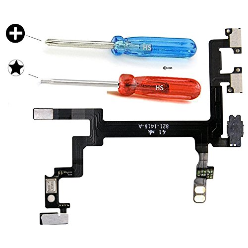 MMOBIEL Power Button für iPhone 5 ON OFF Lautstärke Volume regler Flexkabel inkl 2 x Schraubenzieher für einfachere Installation