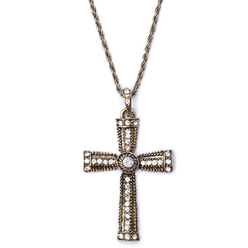 Bristol Novelty ba921 Jeweled Kreuz Halskette, One size