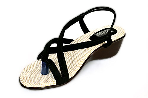 ASK-JS-LCD & Co Women Sling Heeled Sandal ,( Size_10 UK). , Latest Stylish Casual Women's Footwear Girl's Footwear Latest Women Slipper Collections Latest Casual Women's Footwear Women's Footwears New style black & white chappals High branded shoes Womens