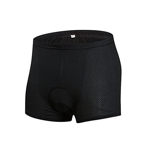 logas Mens Padded Radhose Under - Atmungsaktiv Bike Shorts Leichte Radhose für Outdoor Reiten