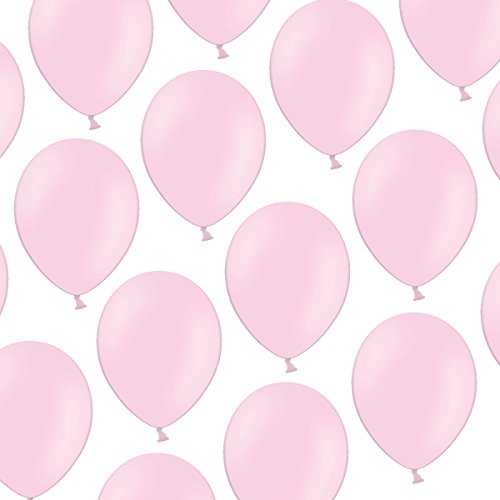 100 Luftballons - 23 cm - Pastell Baby Rosa Baby Pink- Formstabil - Kleenes Traumhandel®